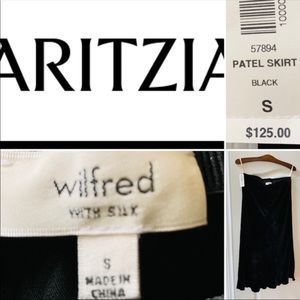 BNWT ARITZIA silk black skirt